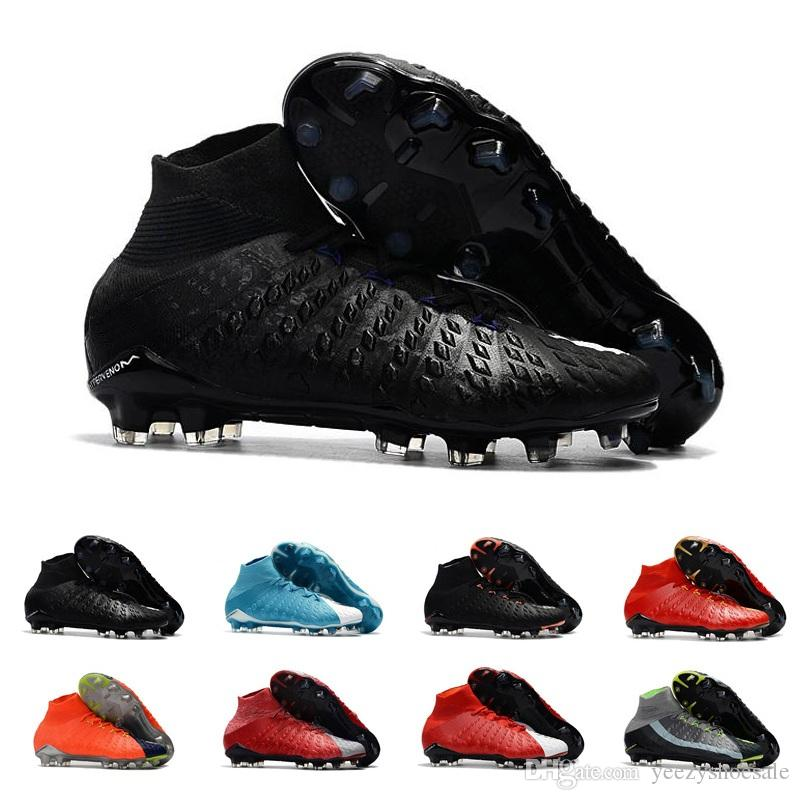 Mens Soccer Cleats Hypervenom Phantom III EA Sports FG For Men Soccer Shoes Soft Ground Football Boots Cheap Rising Fast Pack Neymar Boots