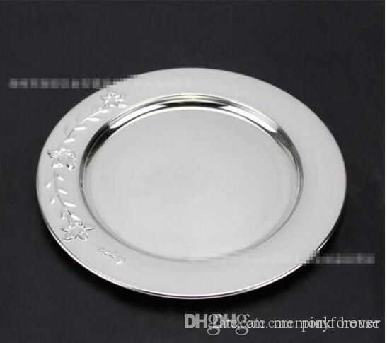 Elegant Cheap Round Sharp Wedding Sliver Color 12 Inch Stainless Steel Charger Plates For Wedding Table Decoration Christmas Wedding Favours Cute Wedding ...