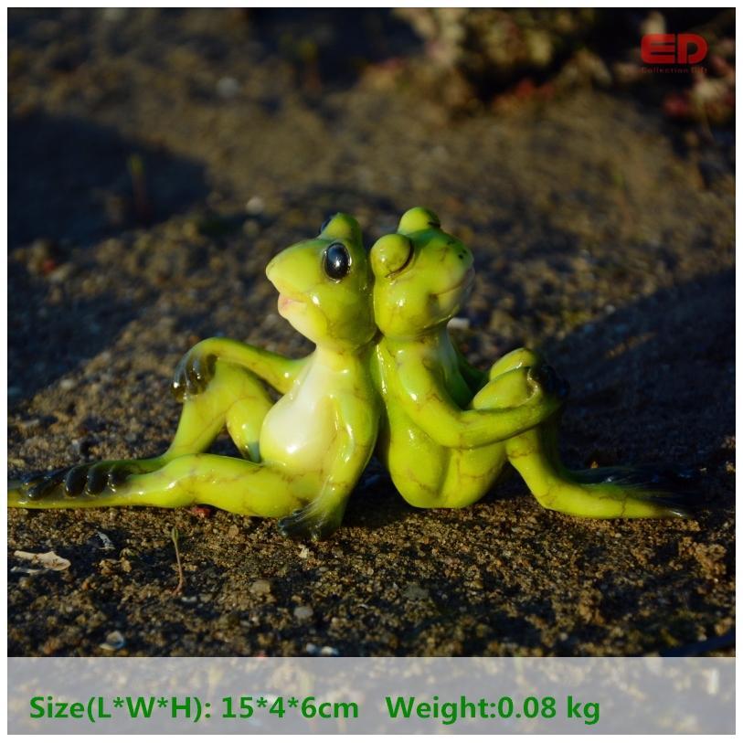 Gro handel t gliche sammlung cartoon kleine frosch harz for Frosch figur garten
