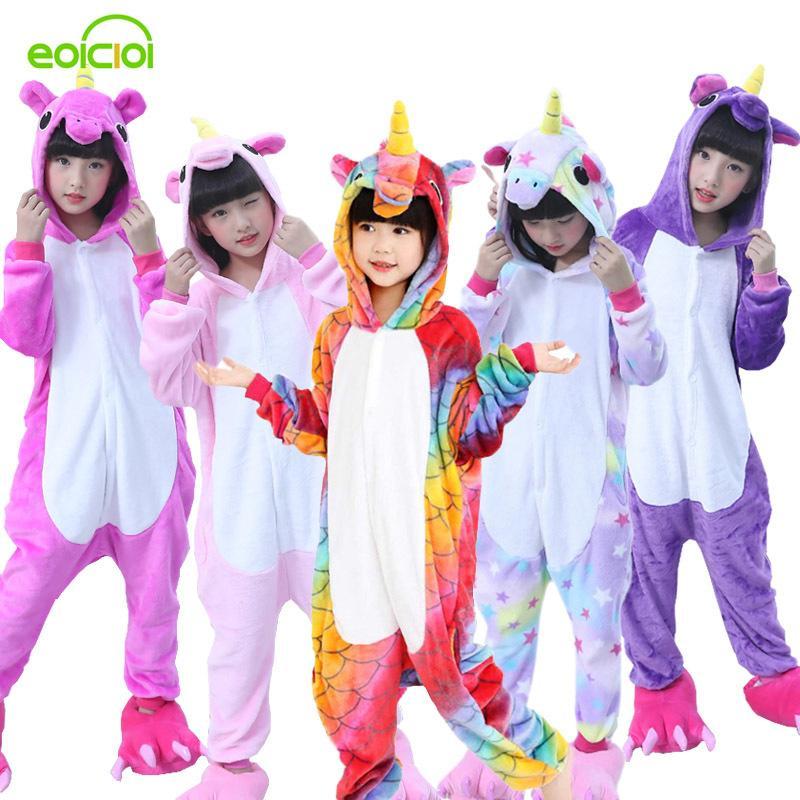 47031ed63c Compre Franela Invierno Pegasus Navidad Pijamas Pijamas Unicornio Rosa Para  Animales De Dibujos Animados Con Capucha Ropa De Dormir Onesie Boy Pijamas  Niños ...