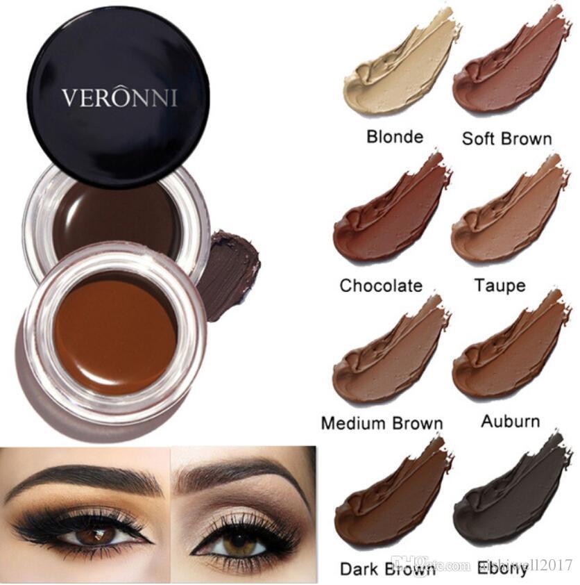 New Eyebrow Gel Makeup Natural Pigmented Brown Eye Brow Enhancer