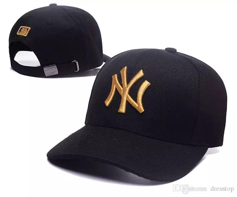 042ee886b60 2018 Baseball Cap NY Embroidery Letter Sun Hats Adjustable Snapback Hip Hop  Dance Hat Summer Outdoor Men Women Designer Hat Tiaras Bridal Gowns From ...