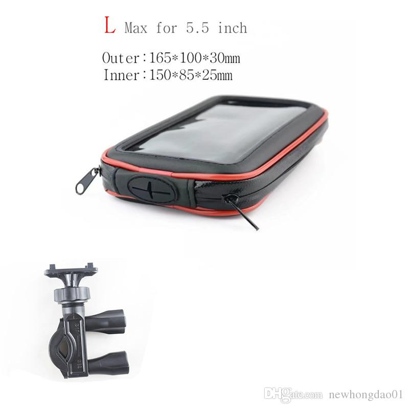 Wholesale Motorcycle Phone Holder Support Mobile Moto Bicycle Stand For Iphone Smart Phones Bike Holder Waterproof Bag Stand GPS