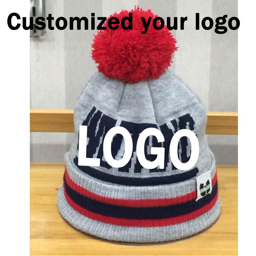 1de5d24401b 2019 A Customized Beanies Knitted Private Beanies Embroidery LOGO Custom  Winter Skullies With Ball Adults Or Kids 21 29CM From Teawulong