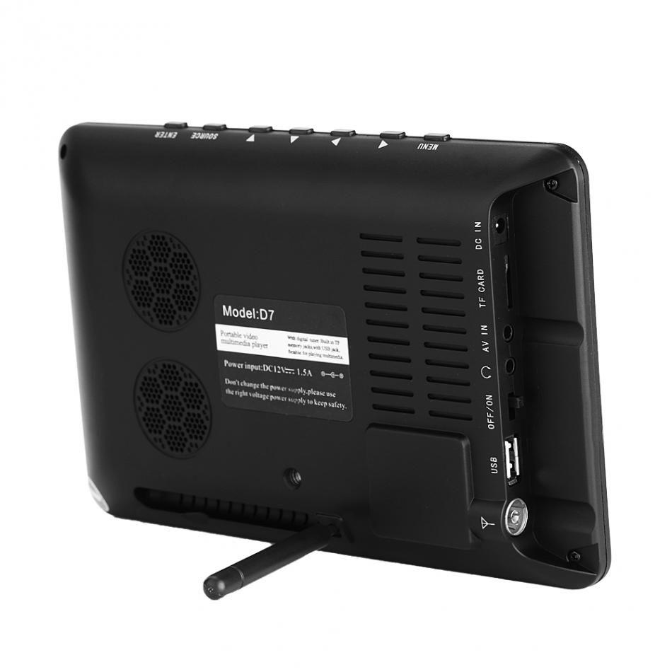 Leadstar Dijital HD TV 800x480 7 Inç DVB-T2 TV Ve Analog Televizyon Alıcısı desteği TF Kart Ve USB Ses Ve Video DVB-T TV