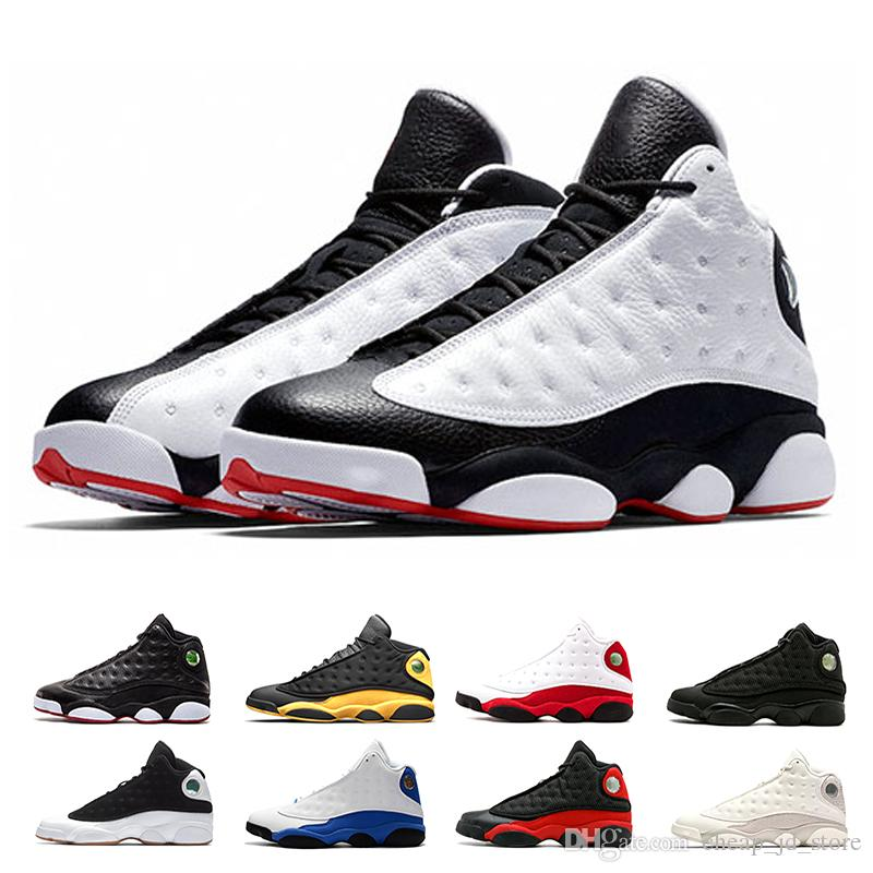 huge selection of cfcec 3c5fa Acheter Nike Air Jordan Retro 13 AJ13 He Got Game Chaussures De Basket Ball  Hommes Phantom Black Cat Chicago Élevé Au Melo Classe De 2003 Hyper Royal  ...