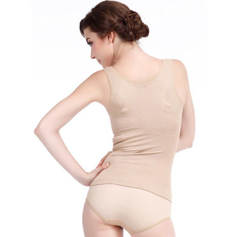 2016 neue frauen Straffende Poly Brust Fernen Infrarot selbsterhitzung Magnetische Girly Heiße Body Shaper Bodysuit Tops AC049