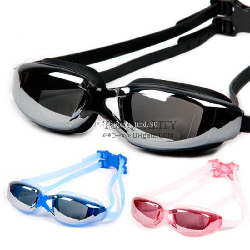 2018 العلامة التجارية الجديدة الرجال النساء مكافحة الضباب الأشعة فوق البنفسجية حماية السباحة نظارات المهنية الكهربائية الكهربائية السباحة نظارات المياه الرياضات الأساسية.