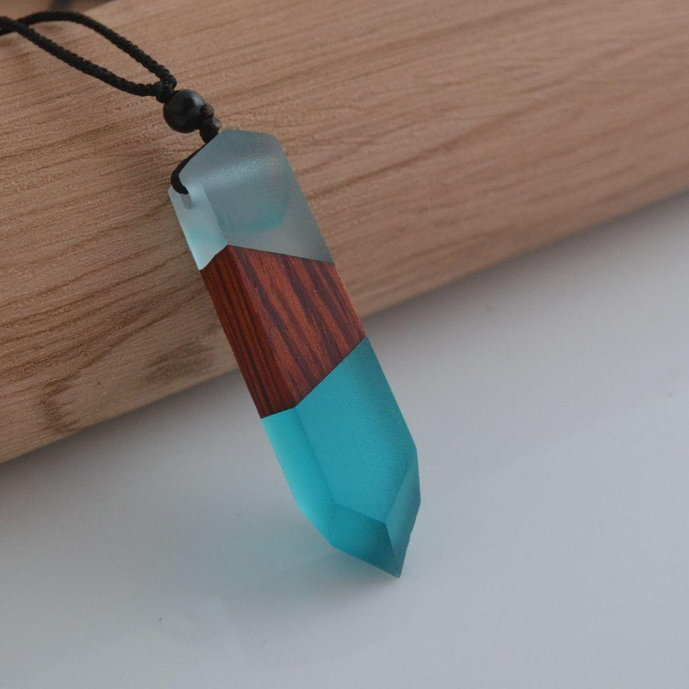 Wholesale leanzni new fashion hand wood resin necklace pendant men wholesale leanzni new fashion hand wood resin necklace pendant men and women applicable jewelry knitting rope gifts wholesale pendants and necklaces aloadofball Choice Image