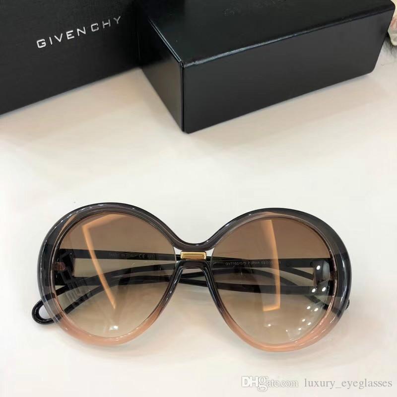 7d7738cf795 New Fashion Women Designer Sunglasses 7105 Round Frame Soft Legs ...