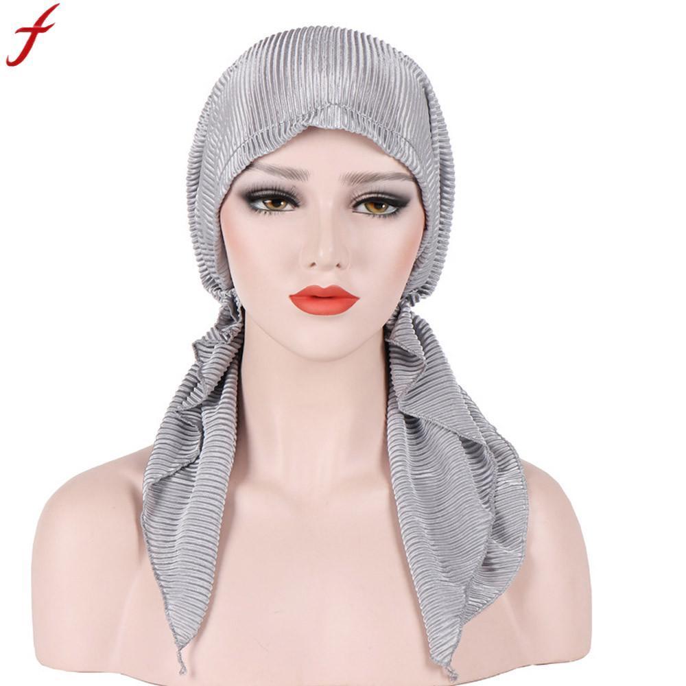Summer Cap 2018 Women Muslim Stretch Turban Hat Women Cancer Hat CheHat  Beanie Hair Loss Head Scarf Wrap Cap Snapback Caps Baby Hats From Haroln 8b180bb74b7