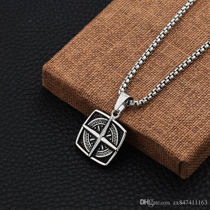 Wholesale unique designs men charm cross compass pendant necklaces wholesale unique designs men charm cross compass pendant necklaces fashion stainless steel jewelry chains for necklaces 70cm long chain gold necklaces cat aloadofball Image collections