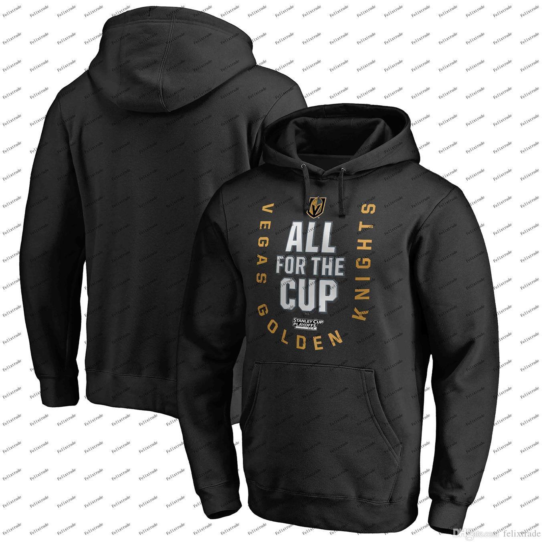 40796de13 2019 Vegas Golden Knights 2018 Stanley Cup Playoffs Hoodie Men Women Youth  Black Bound Behind The Net Pullover Sweatshirts From Felixtrade