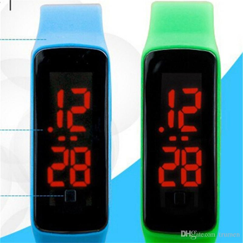 LED Silicone Smart Band Unisex Waterproof Smart Band Digital watch Sports Smart Wristbands For Men Women