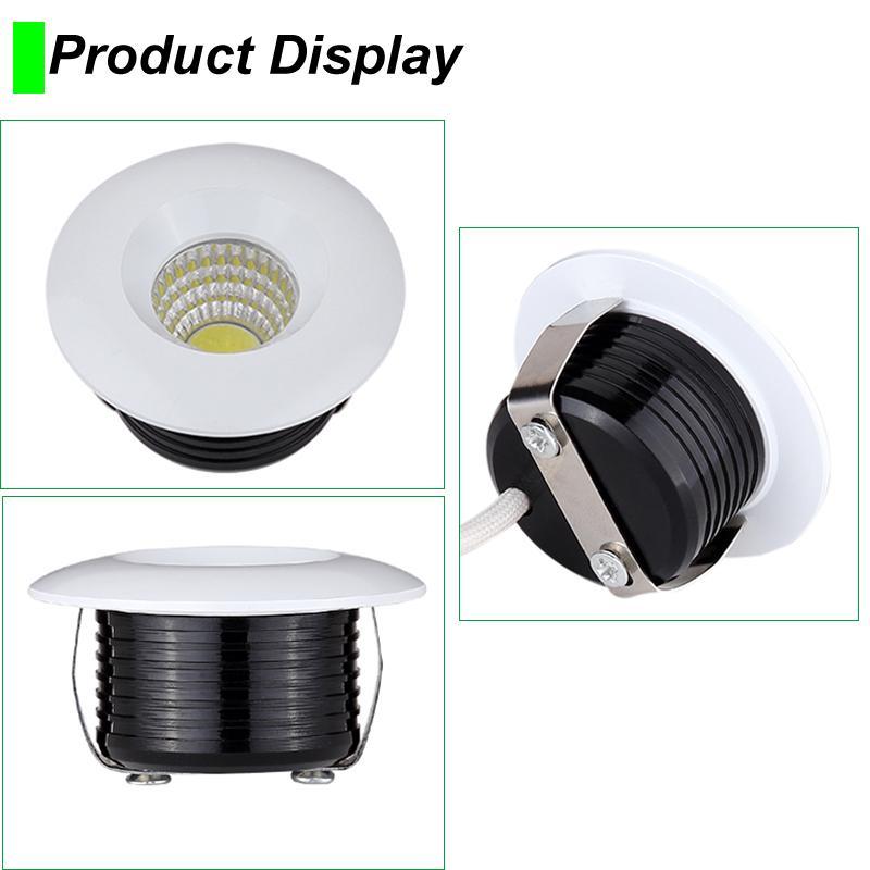 LED 스포트 램프 미니 다운 라이트 3W 디 밍이 최근 다운 라이트 110V 220V 캐비닛 실내 천장 디스플레이 보석 조명