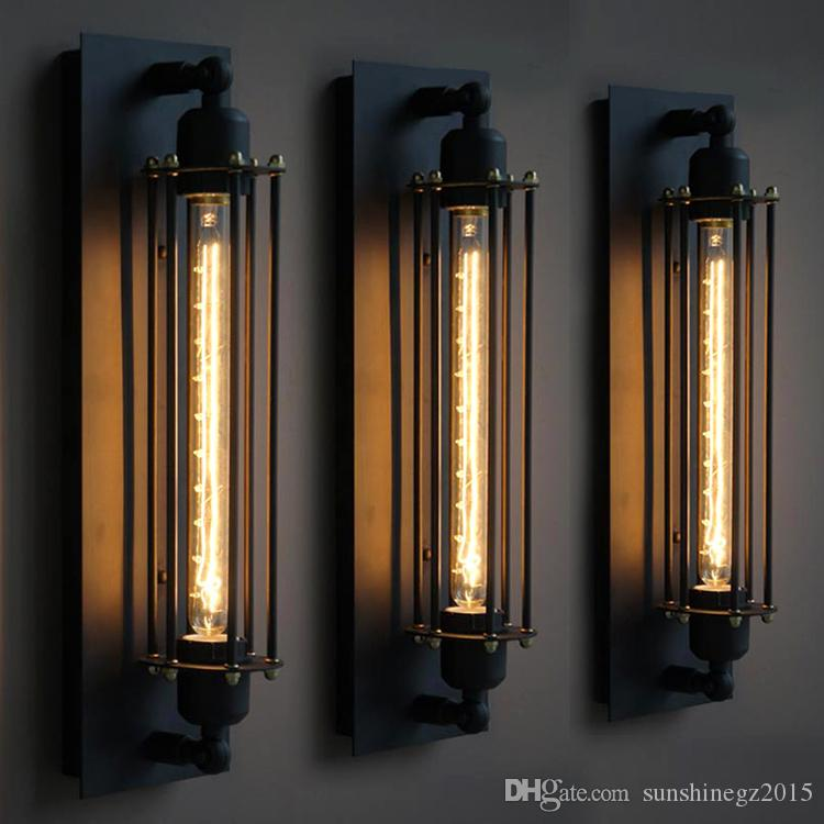 Online Cheap Loft Vintage Wall Lamps American Industrial Wall Light