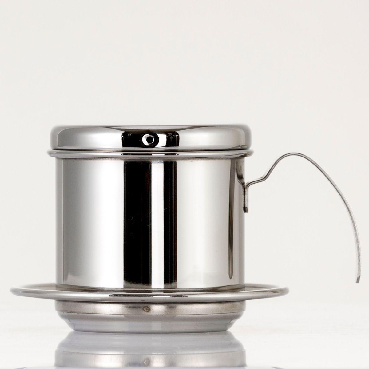 Vietnam-Art-Kaffeetasse-Schalen-Krug-Edelstahl-Metallvietnamesische Kaffee-Tropfenfänger-Schalen-Filter-Hersteller-Sieb-kühles perfektes