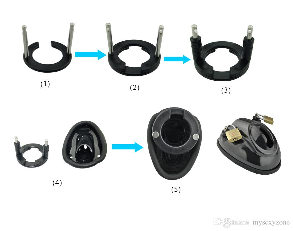 2018 New and High quality of Male chastity belt cb male chastity device cock cage silicone penis cage MKC206 black
