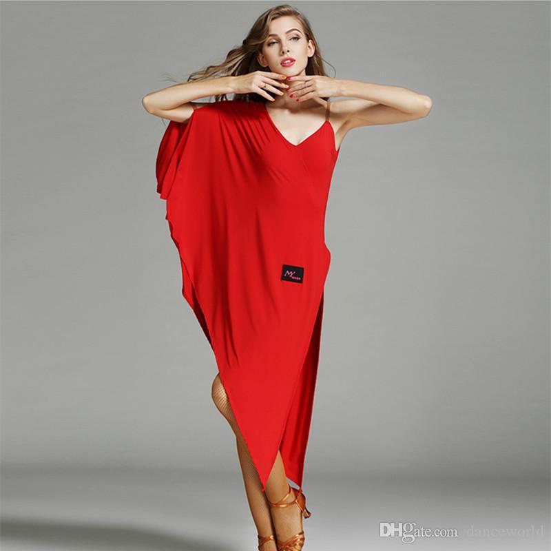 Red Latin Ballroom Kleid modernen Tanz Kostüm Samba Rumba Latin Kleid Latin Dance Kleider für Frauen Tango Salsa Dancewear