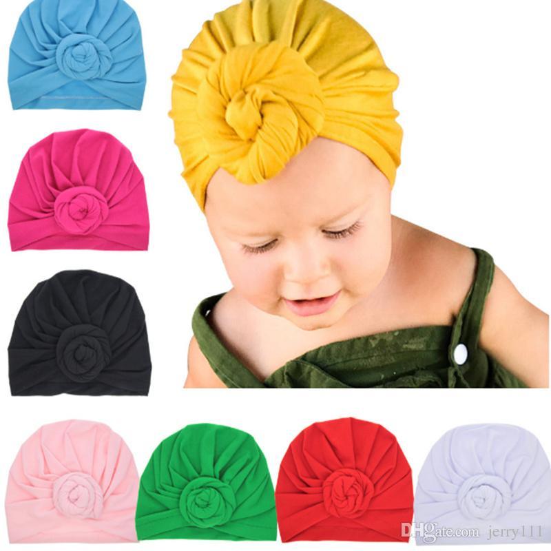 ارتفع الطفل الأعلى العقدة العمامة قبعة طفل العمامة الناعمة نمط خمر الرجعية اكسسوارات للشعر الفتيان والفتيات ورئيس التفاف LC697