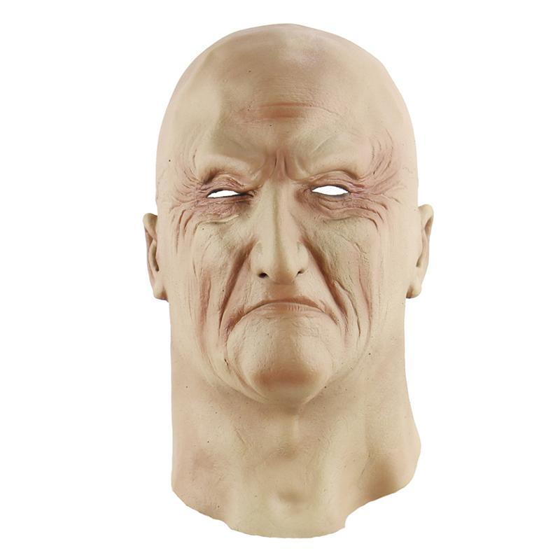 Halloween Creepy Scary Realistic Horrible Ghastful Old Man Mask Masquerade Supplies Cosplay Costumes Party Props