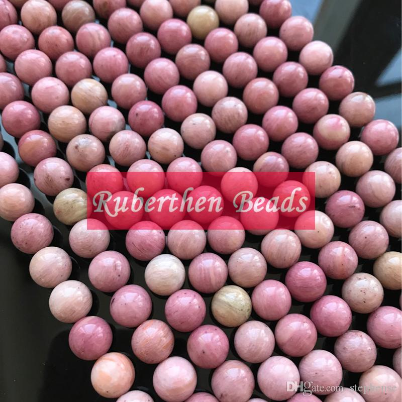 NB0081 Natural Loose Beads Stone Wholesale High Quantity Rhodonite Stone Many Size Round Beads Jewelry Making Accessory