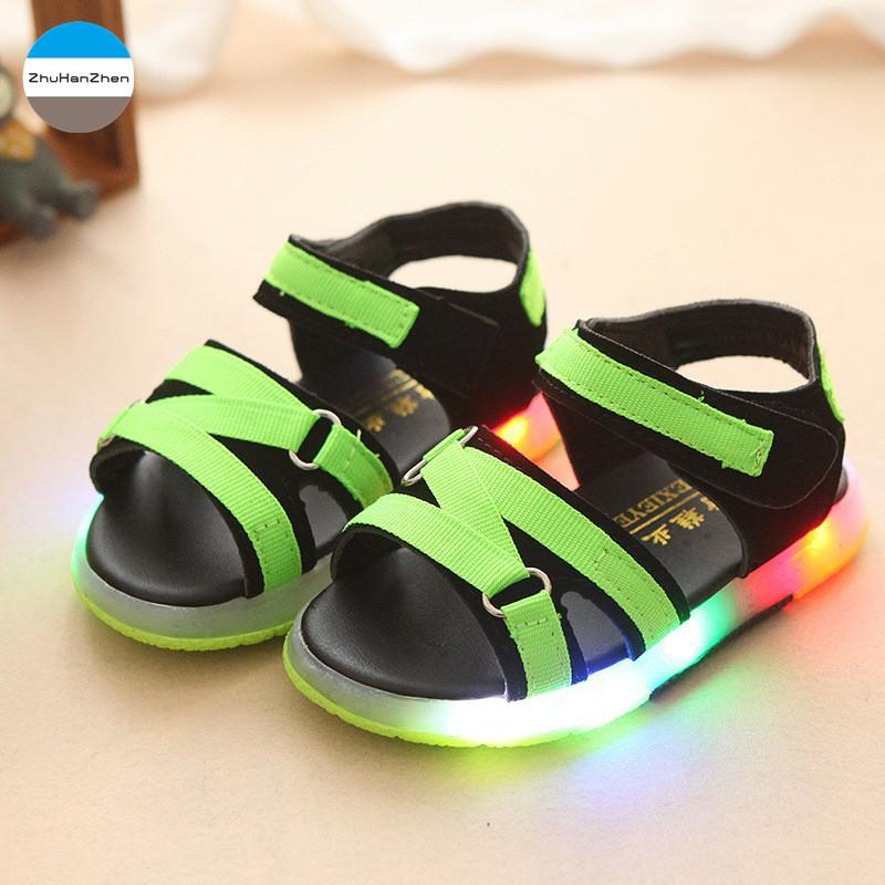 06d66c6acab97 2018 1 5 Years Old LED Lights Baby Sandals Boys And Girls Fashion Shoes  Breathable Glowing Infant Sneakers Toddler Soft Bottom Best Shoes For Toddler  Boys ...