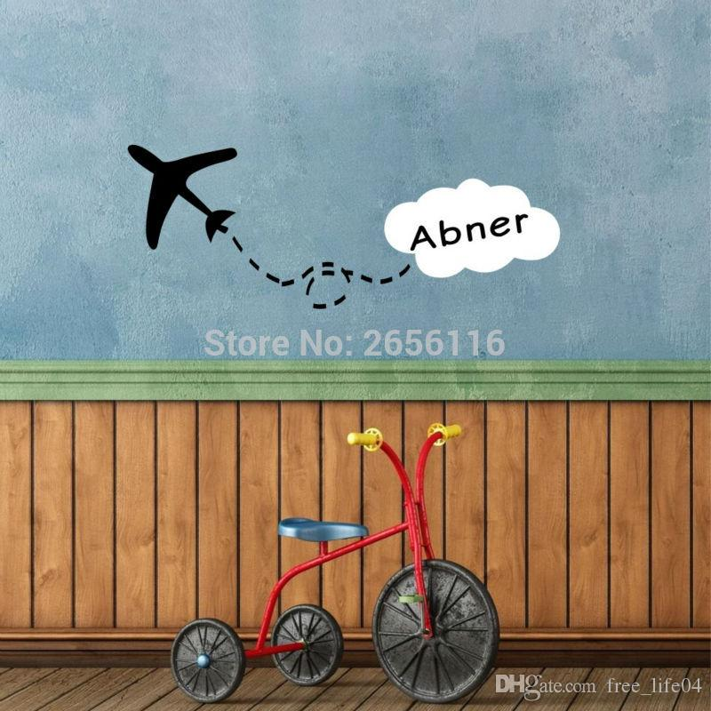 personalized-airplane-wall-stickers-custom.jpg : personalized airplane wall decal - www.pureclipart.com