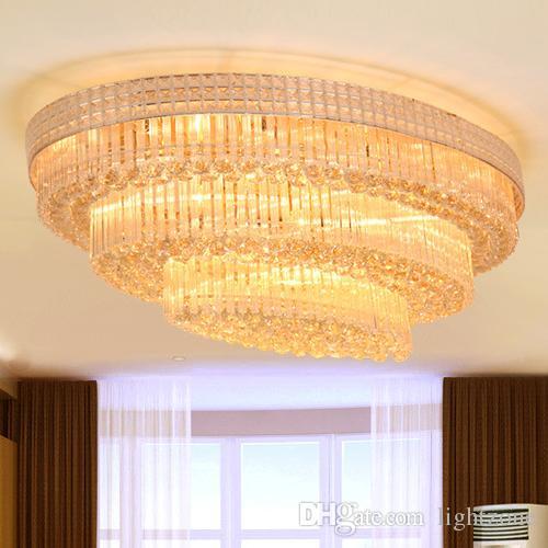 new design royal led crystal ellipse chandeliers light k9 crystal rh dhgate com