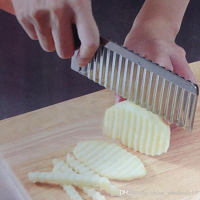 french fry Cutter Stainless Steel Potato Wavy Edged Cutter Knife kitchen Gadget Vegetable Fruit Potato Peeler Cooking Tools