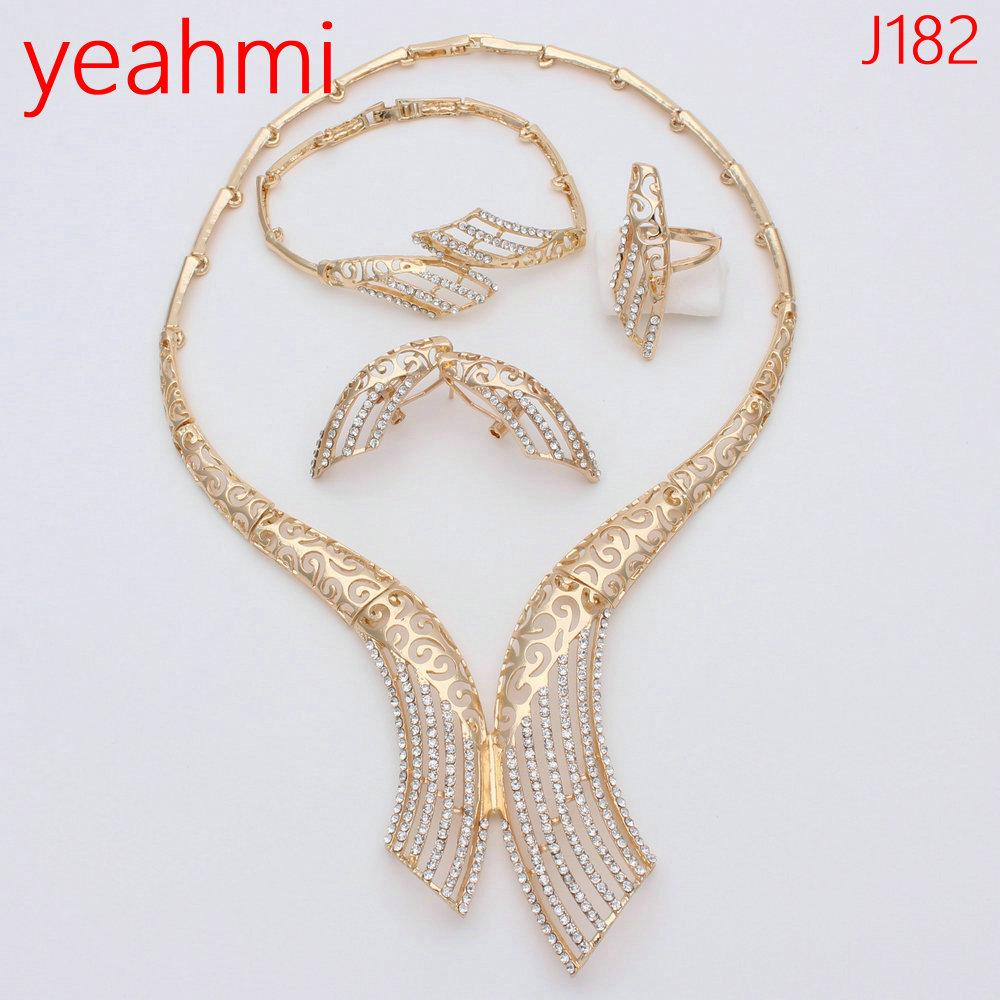 957b1bd9af96c3 2019 Nigerian African Jewelry Set Wedding Jewelry Sets For Brides Crystal  Dubai Gold Jewellery Sets For Women Engagement Party J182 From Frenky, ...