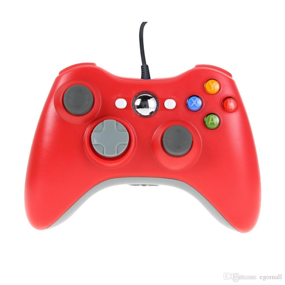 Игровой контроллер для Xbox 360 геймпад черный USB провод ПК для XBOX 360 джойстик джойстик аксессуар для портативного компьютера ПК
