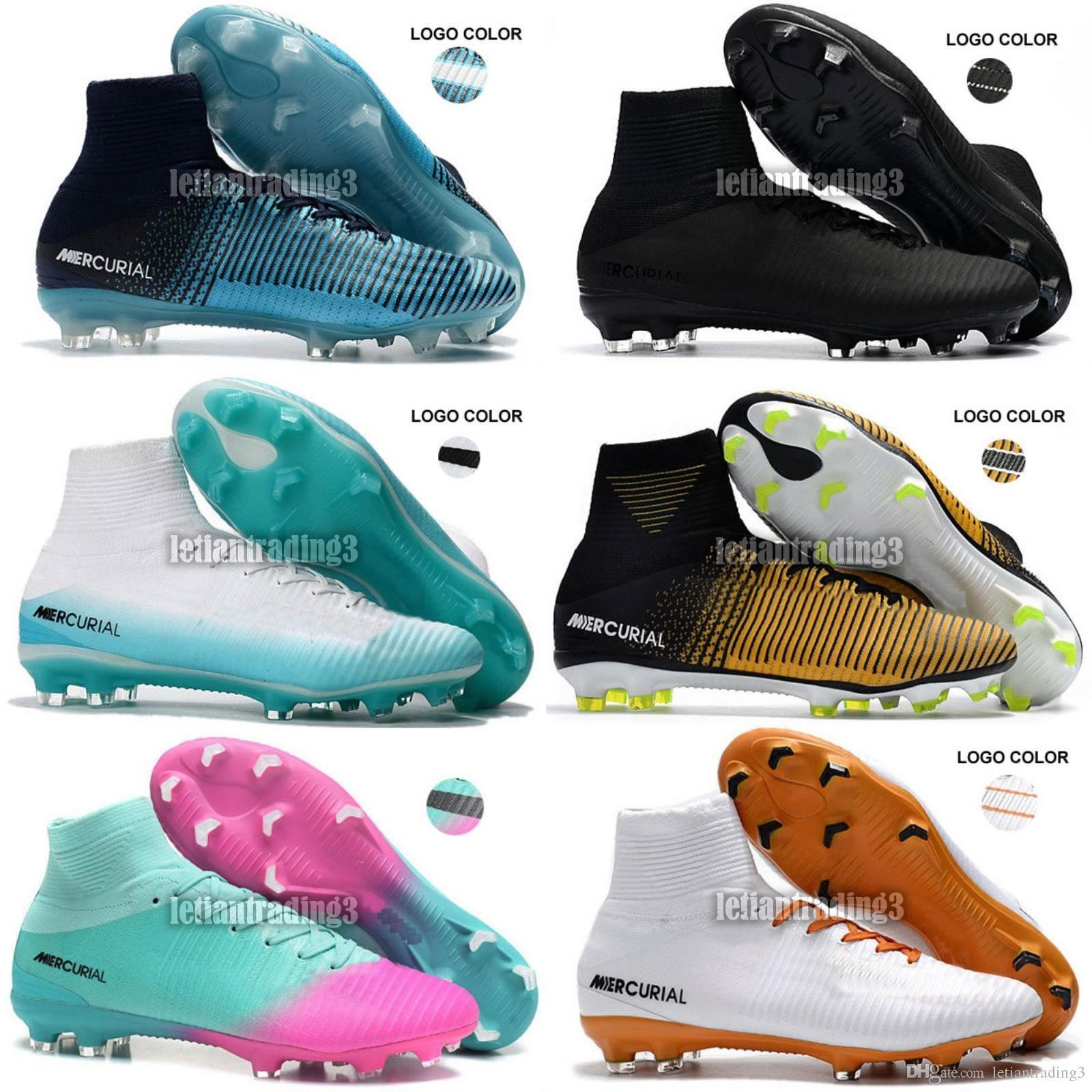 Compre 2017 Envío Gratis Cristiano Ronaldo Mercurial Superfly Tacos Cr7 Ag  Fg Mens Botas De Fútbol Zapatos Baratos Originales Superflys Acc Zapatos De  ... e0579d4c43b06