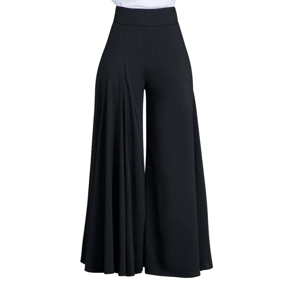 898a17b898 2019 LE CELEBRE Fashion Wide Leg Pants 2018 Autumn Women High Waist Pleated  Loose Pants Elegant Office Ladies Trousers Black White From Pattern68, ...