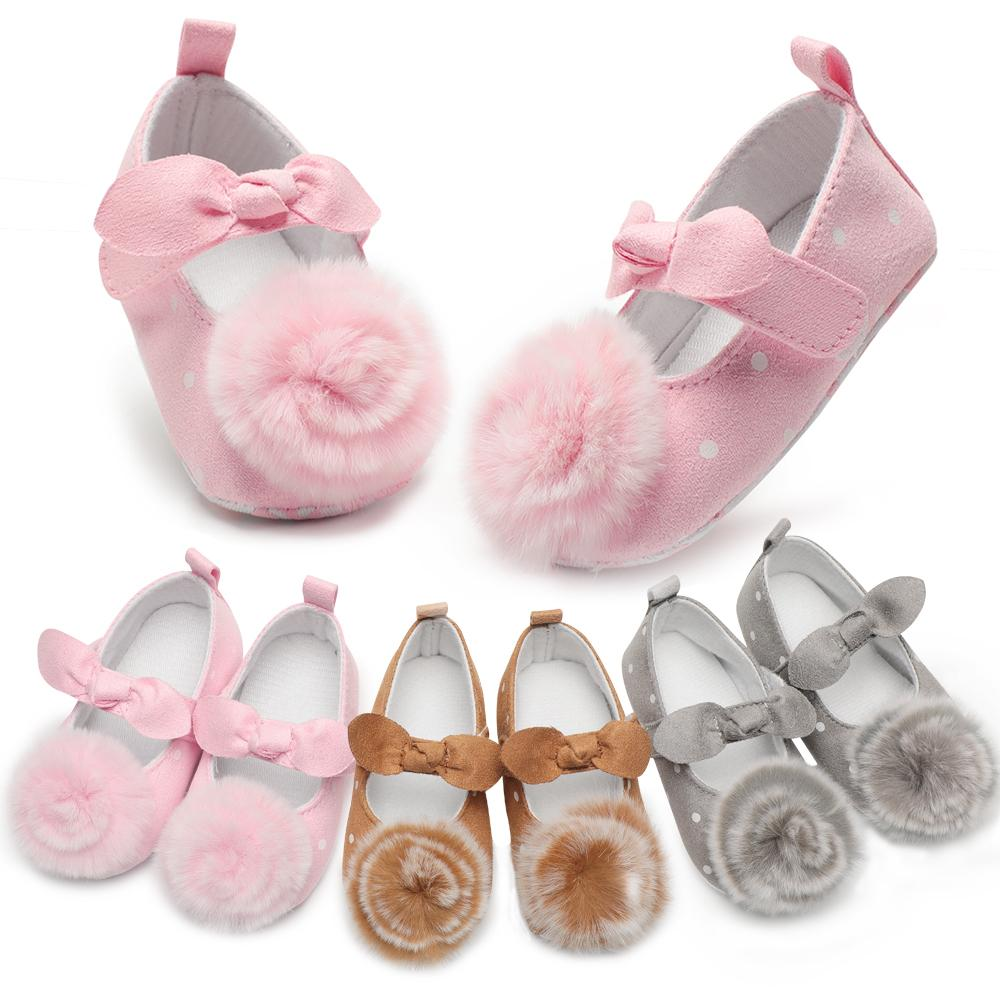 Newborn Baby Shoes Kid Boy Girl Floral Shollow Cotton Cloth First Walker Anti-slip Soft Sole Toddler Sneakers