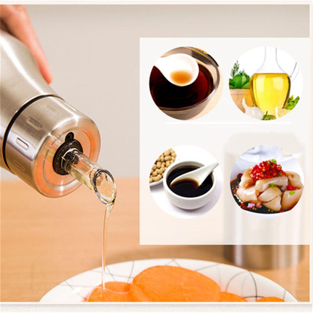 Creative Cruet Olive Oil Bole New Design Stainless Steel Oil Dispenser  Leak-Proof Oiler Spice Jar Oil Bole Kitchen Supplies