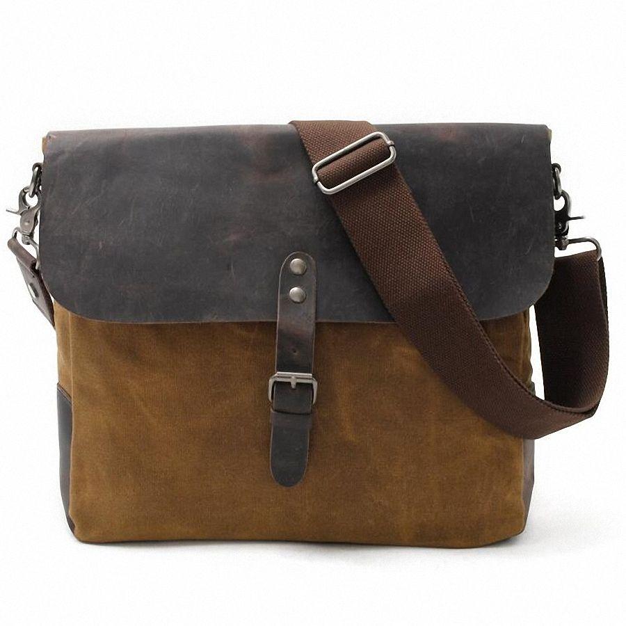 5d1e4c76f79c 2018 Designer Postman Men s waterproof Crossbody Bag Laptop Case Office  Briefcase Men Messenger Bags Canvas Shoulder bag LI-1852