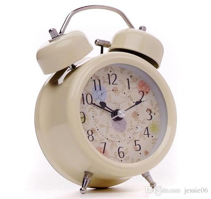 Vintage Alarm Clock Classic Small Round Silent Desk Table Alarm Clocks With Backlight Non Ticking Quartz Modern Home Decor Kids Gift