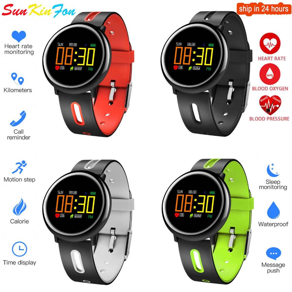 For Samsung Galaxy S7 Edge S6 Edge Smart Bracelet Band Heart Rate Blood  Pressure Oxygen Monitor Fitness Tracker Smart Wristband