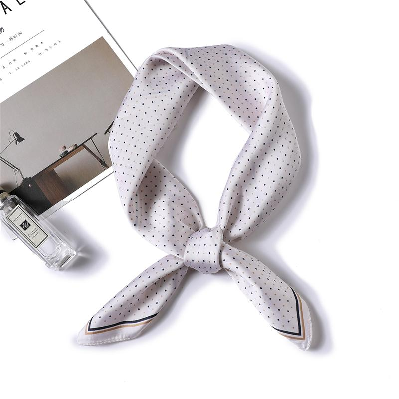 Fashion Silk Scarf Square Dot Print Small Offhair Neck Scarves