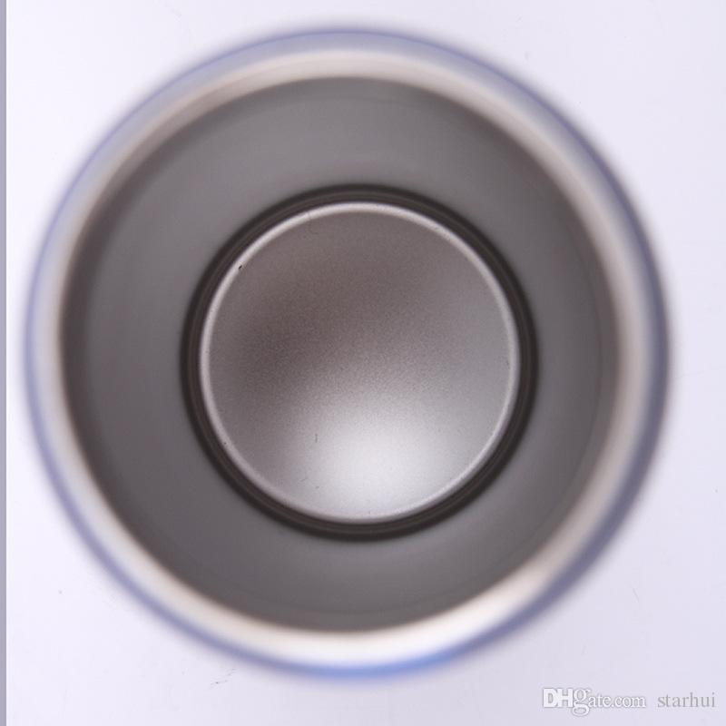 350ML 콜라 수 컵 스테인레스 스틸 스포츠 진공 절연 맙 컵 Sith 빨 뚜껑 10 색상 WX9-418