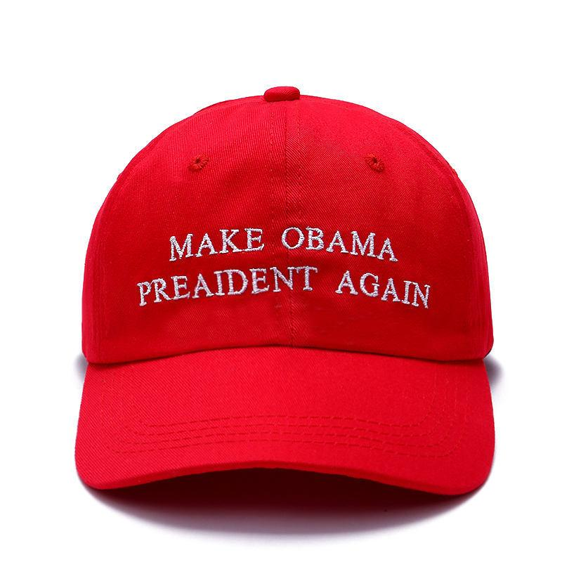 9c3a327aa9d 2018 New Make Obama President Again Dad Hat Men Women Cotton Baseball Cap  Unstructured New Red Cotton Cap Starter Cap Big Hats From Huazu