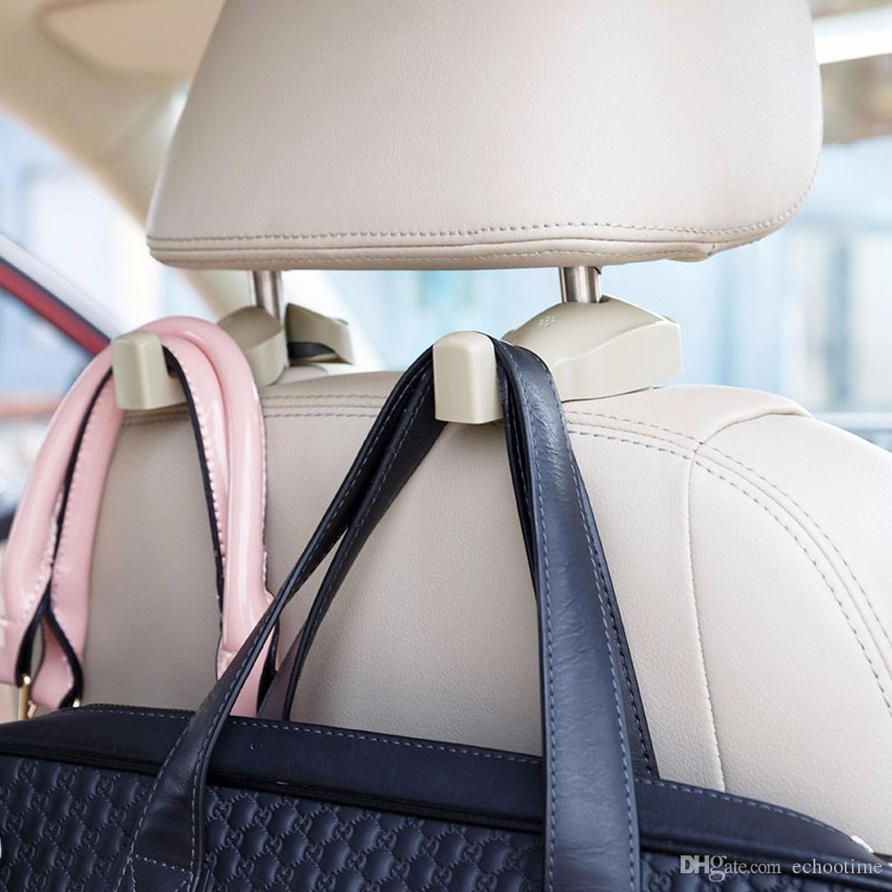 60lots 2nd generation Universal Car Headrest Hook Seat Back Hanger Holder Vehicle Organizer for Handbags Purses Coats and Grocery Bags