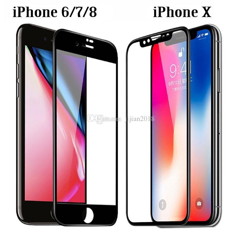 a5b4d8cf186 Protectores Celular Cristal Templado 3D 9H Cobertura Completa Teléfono  Protector De Pantalla LCD A Prueba De Explosiones Película Para IPhone XS  Max MR X 8 ...