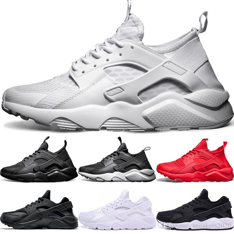 buy popular 74b69 cca7b 2019 Cheap Air Huarache 1 4 Men Women Running Shoes Ultra Triple Black  White Red Oreo Huaraches Designer Trainers Sport Sneaker Size 5.5 11 From  ...