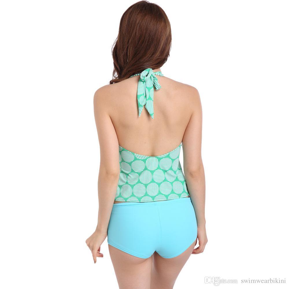 Fashion mini bikini one set Hot spring traje de baño 2018 traje de baño nuevo, delgado, partido, dos juegos, traje de baño liso, traje de baño de nylon de alto grado.