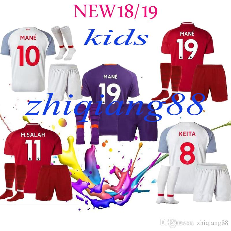 079dea880d5 Top Thai Quality Kids 2018 2019 KEITA FIRMINO M SALAH Home Away ...