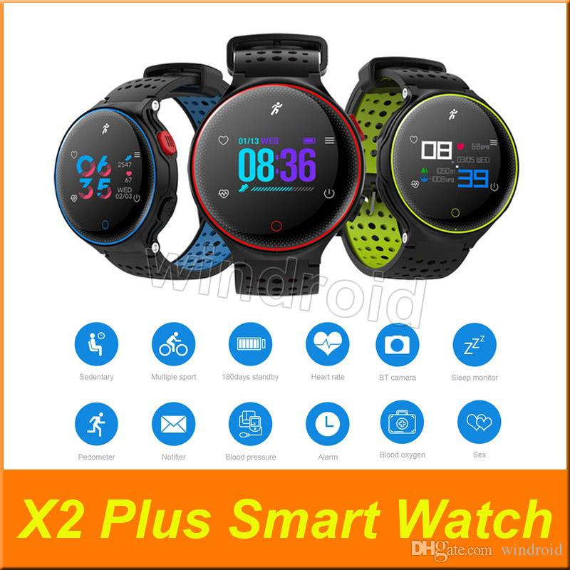 Microwear X2 Plus Smart Bracelet Watch Heart Rate Monitor Pedometer Sleep Tracker Smart Band FitnessTracker for Android IOS iPhone Cheap DHL