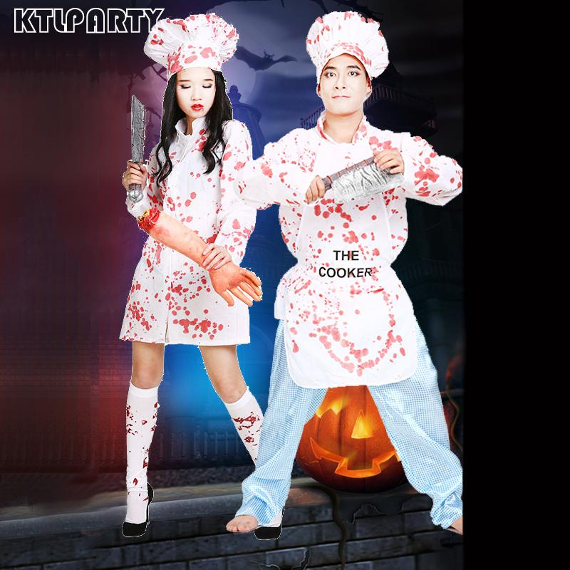 77c43a24af39 Acquista Costume Di Halloween Cosplay Di Sangue Adulti Capo Cappello  Maestro Kitchener Horror Costumi Spaventosi Vestiti Abbigliamento Le Donne  Uomini A ...