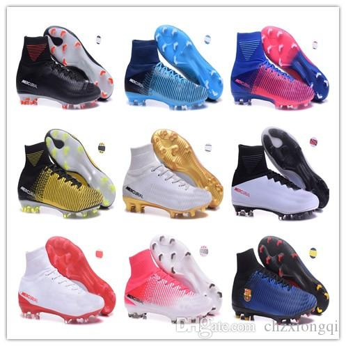 online store 6e537 bb667 Real Madrid Cristiano Ronaldo Soccer Cleats Mercurial Superfly VI 360 CR7  SuperflyX 6 Elite TF Soccer Shoes High Ankle Football Boots